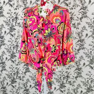 Peter NYgard 14 colorful formal tie blouse